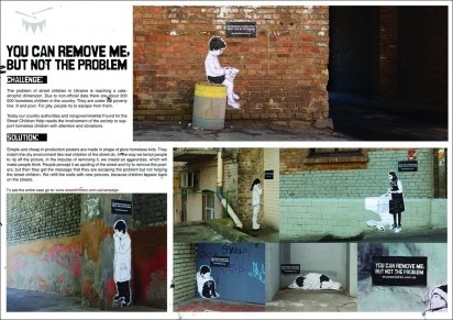 Impacting campaign about street childrenChildren Awareness, Children Social, Street Children, Leo Burnett, Children Helpful, Children Ambient, Burnett Ukraine