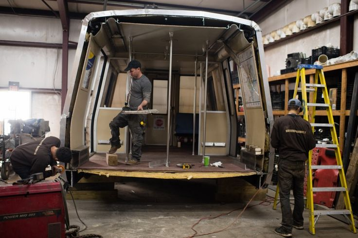 In sculptor's hands, Metro's old rail cars become kiosks - The Washington Post