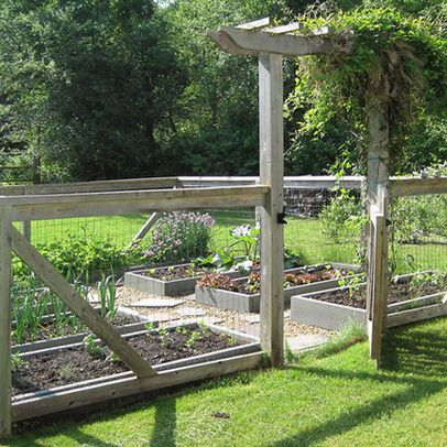 46 best wire fencing images on pinterest fencing arbors for Attractive vegetable garden fence