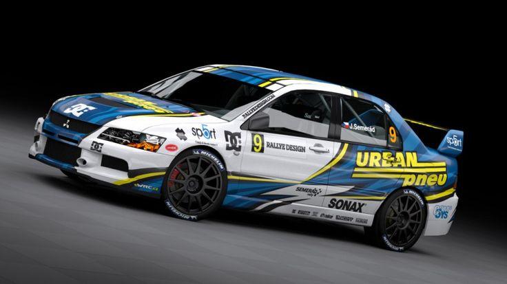Semerád Rally Team - J. Semerád (Mitsubishi Lancer Evo IX) - new design, first seen at Setkání mistrů 2012.