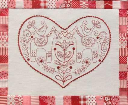 Scandinavian Rose BOM Complete - by Rosalie Quinlan - $130.00 : Fabric Patch, Patchwork Quilting fabrics, Moda fabric, Quilt Supplies, Patterns
