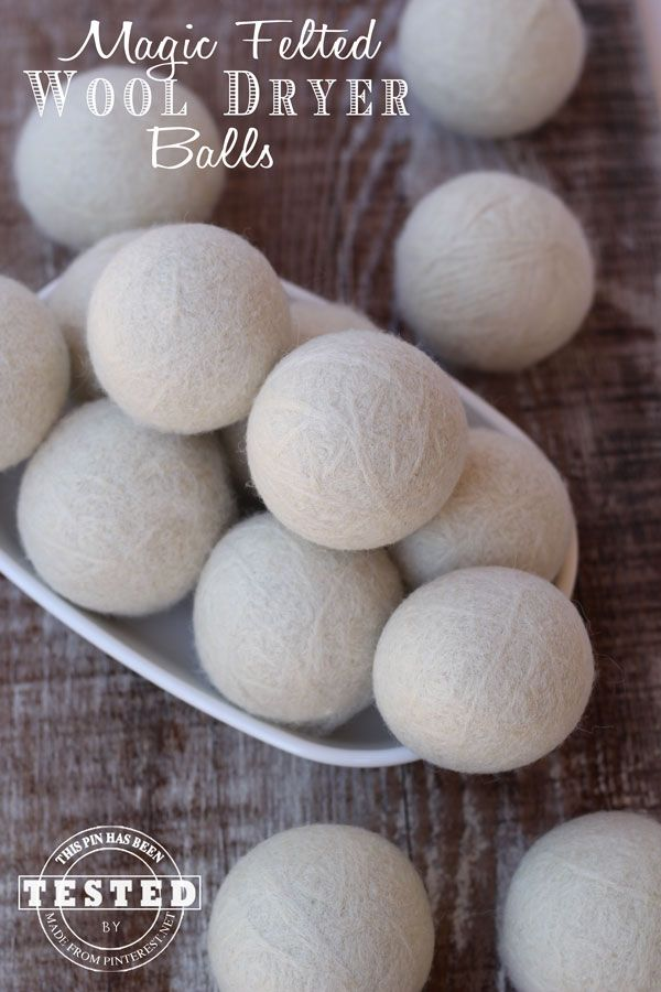 Magic Felted Wool Dryer Balls - use up to 20% less drying time = 20% less electricity, chemical and dye free, natural fabric softener, earth friendly, natural static remover and they are low maintenance, just leave them in your dryer. Add a few drops of your favorite essential oils to each Magic Felted Wool Dryer Ball for an amazing fresh smell in all your laundry. They are also a great gift idea!