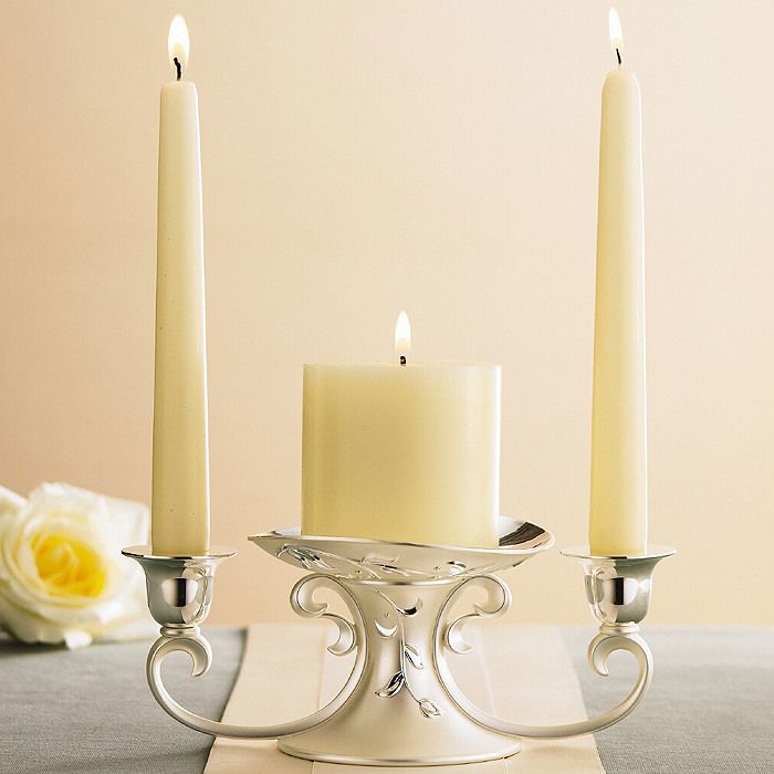 Lenox Opal Innocence Metal Unity Candle Holder - $39.95  Elegant and pretty!