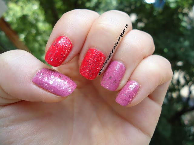 Lory's Blog: NOTD: Sparkling Loving & Bright Coral