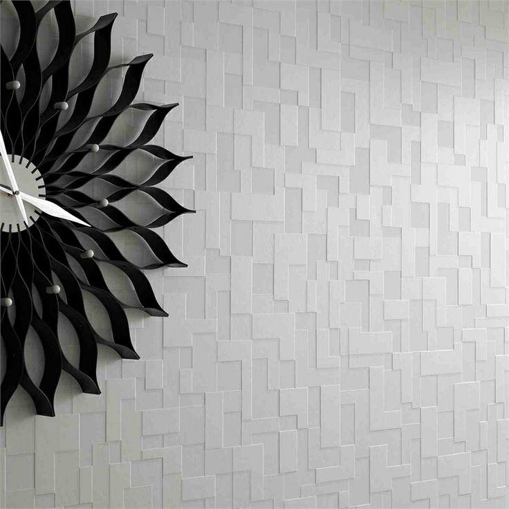 Superfresco Easy 52cm x 10m White Checkers Shape And Form Wallpaper