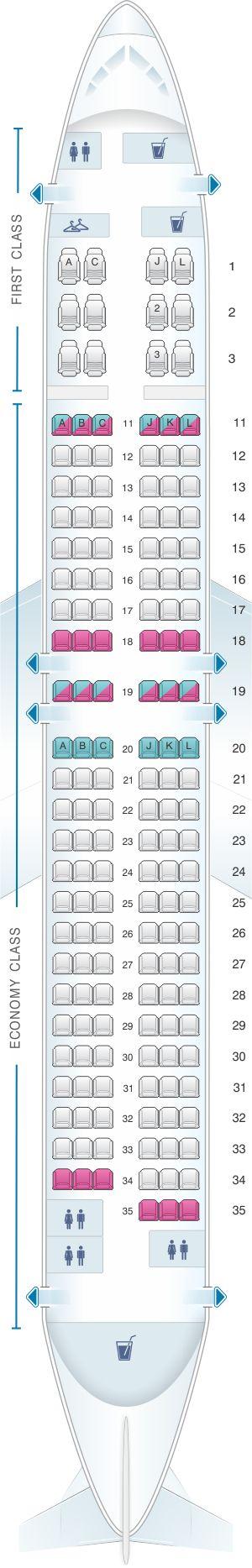Seat Map Air China Boeing B737 800 (159PAX)