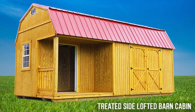 Treated Side Lofted Barn Cabin - Prefab Cabins for Sale in Spring Hill, TN - Spring Hill Sheds