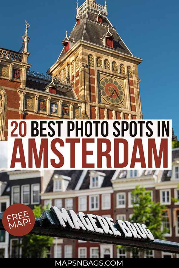 Map Of The Best Amsterdam Instagram Spots Most Instagrammable