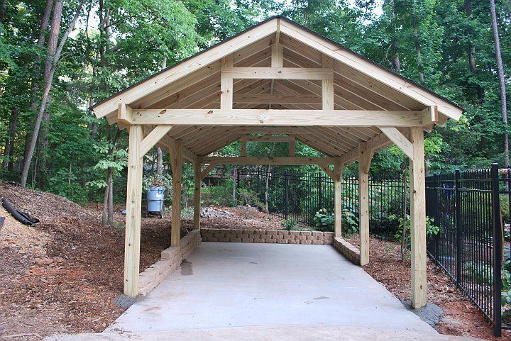 heavy timber carport Rv carports, Carport addition, Carport