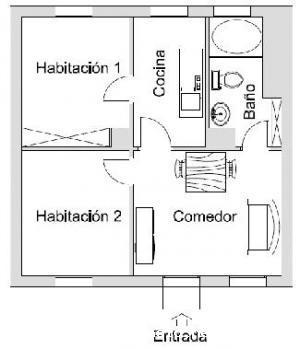 Esa es la planta de mi piso que tengo que amueblar en ese for Chambre communicante