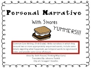 S'more personal narrative: Holiday Time, Smore Personal, Writing Narrative, S More, Personal Narratives, Teaching Ideas