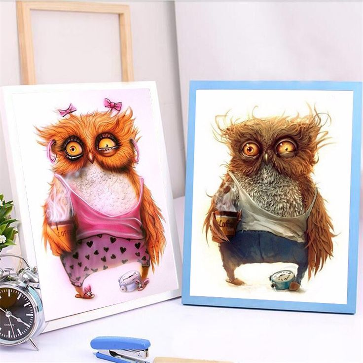 Click Image to Buy.  5D DIY New Animals Owl Diamond Embroidery Diamond Painting Cross Stitch Picture Of Rhinestones Full Square Diamond Mosaic Kits ~ Offer can be found on  AliExpress.com. Just click the image