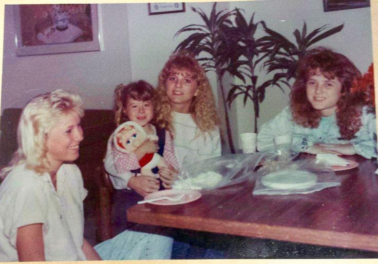 L-R Carolyn Phillips, Jessica Moore, Robin Linduff, Misty Linduff. 1989
