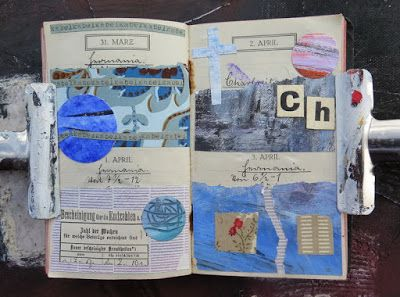 mano kellner, daily project 2016, a collage a day, gustavs agenda, 31.3.-1.4.