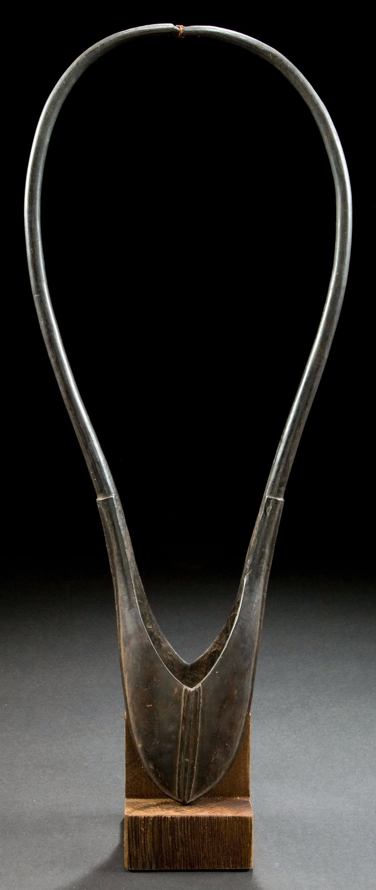 "Africa | A warrior's arm band ""errap"" from the Maasai people.  Carved horn and copper wire 