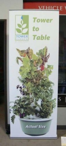 Our Ever Popular Juice Plus/Tower Garden Banner Stand. We Are The Only  Source