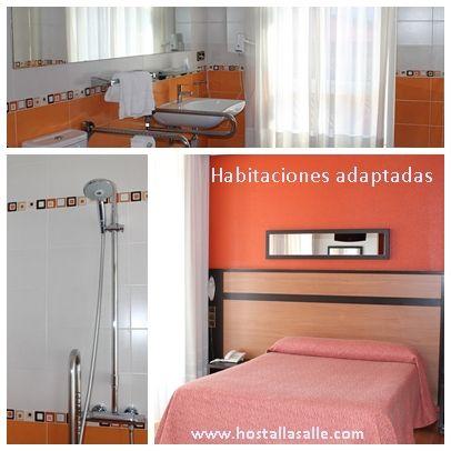 En el Hotel /Albergue La Salle también disponemos de habitaciones muy amplias y luminosas adaptadas a personas con discapacidad. www.hostelalberguelasalle.com #habitacionesadaptadas #hostallasalle #alberguelasalle #santiagodecompostela