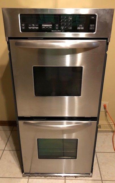 Kitchenaid Kebc247vess 24 Electric Double Wall Oven Architect Series Ii Mint