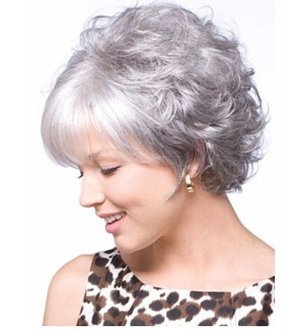 Cheap wig adhesive, Buy Quality wig queen directly from China wig distributor Suppliers: FS new fashion wigs short synthetic women ladies perm hairs cosplay grandmother gray hair BOBO wig chinese bang body wave