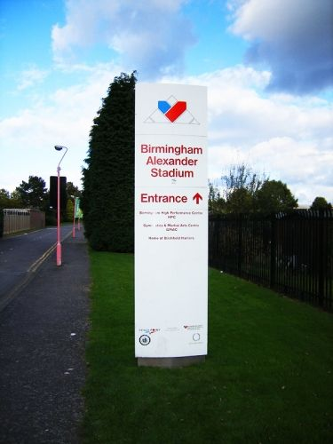 external wayfinding signs, strategies, signage, aluminium posts, panels, finger posts, Cobal modular sign systems