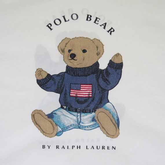 Vintage Ralph Lauren Preppy Patriotic Polo Bear By Shabbyshopgirls