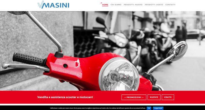 Nuovo sito web per Vasco Masini, concessionario e assistenza moto scooter