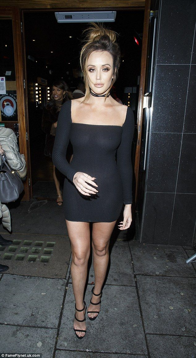 Whoops!Charlotte Crosby suffered a minor slip up with her fashion on Thursday night, as she headed out with Stephen Bear in a slightly see-through dress