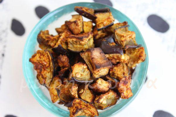 μικρή κουζίνα: Πικάντικοι ψητοί κύβοι μελιτζάνας
