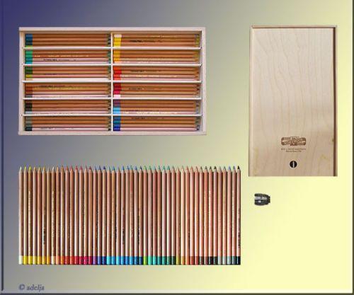 48-Pastellstifte-HOLZBOX-Pastellkreiden-Softpastellkreidestifte-KOH-I-NOOR-NEU