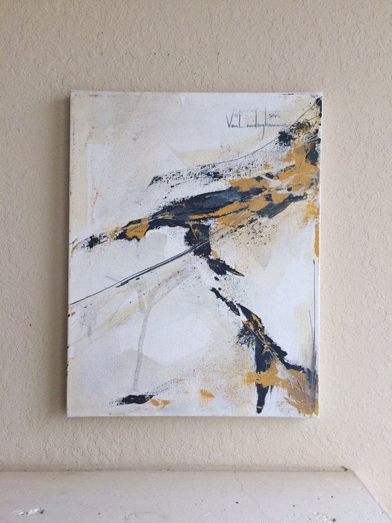 Untitled Original abstraktes Acrylbild auf Leinwand. Maße: 14 x 18 * Alle Bilder sind mit Hochglanz Lack vor dem Ausbleichen zu verhindern abgeschlossen. Zur Anzeige bereit.