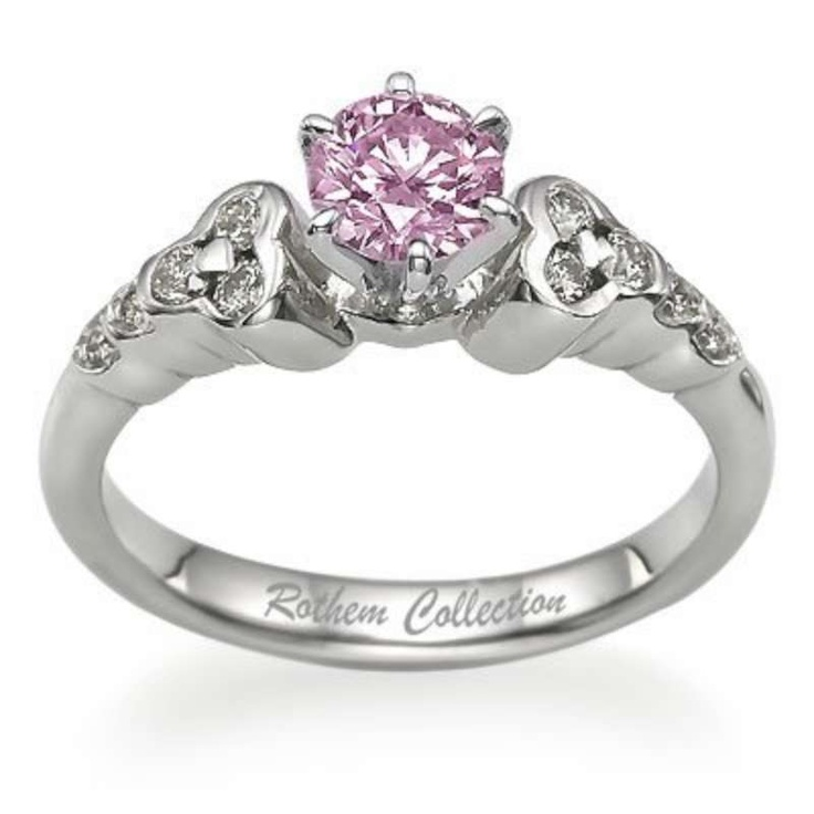 Pink diamonds pink diamond ring love and weddings for Pink diamond wedding rings