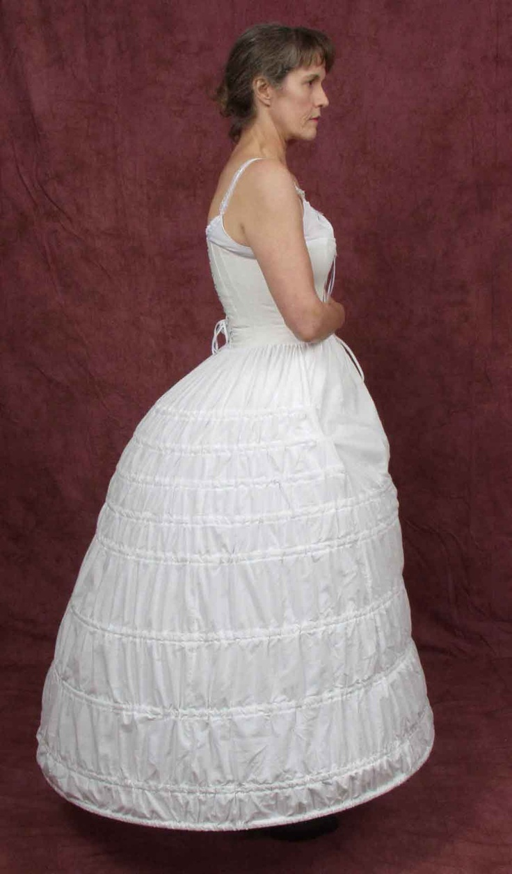 Hoop skirts are made out of wire and cloth and were put under dresses to make the skirt bell out. Worn over stays. Adult clothing.Elliptical Hoop, Adult Clothing, Adult Fashion,  Crinoline, Skirts Belle, Clothing 1860 S, Hoop Skirts, Victorian Fashion, Clothing 1860S