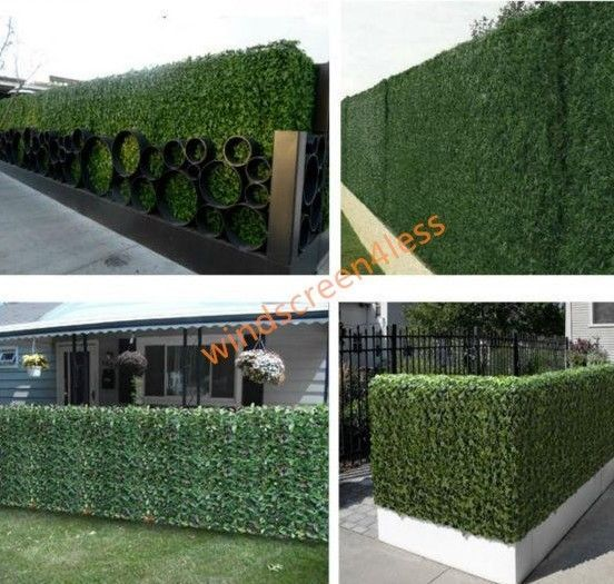 "39"" Tall Artificial ivy Leaf Privacy Fence Screen Décor Panels Windscreen Patio #windscreen4less"