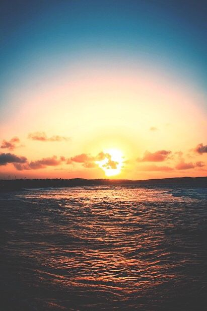 Sunset on the sea - perfect world