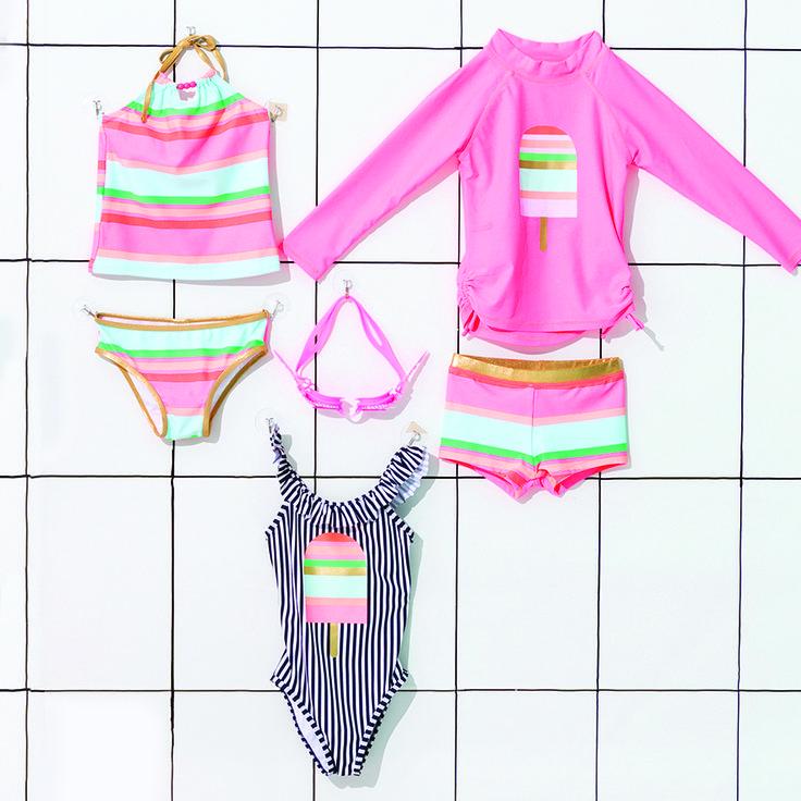 Pool Party Vibes! Click the image to shop our NEW Swim Range! #cottononkids #newswimisin #girlsswim
