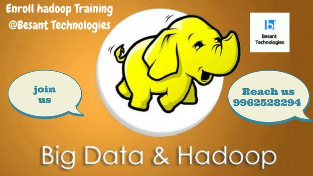 """#HadoopTraininginChennai #hadooptraininginchennai """"Hadoop is a registered trademark of the Apache Software Foundation"""" Besant Technologies offers Hadoop training in Chennai with placement support."""