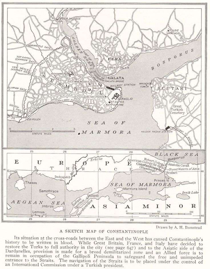 Sketch Map of Constantinople | World History | Pinterest | Map ...