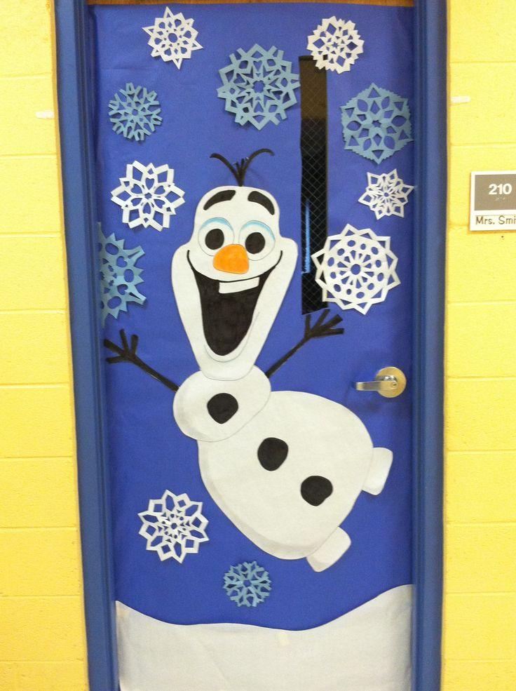Winter door decoration. OLAF from Frozen http://weown.in/ https://www.facebook.com/weown.in