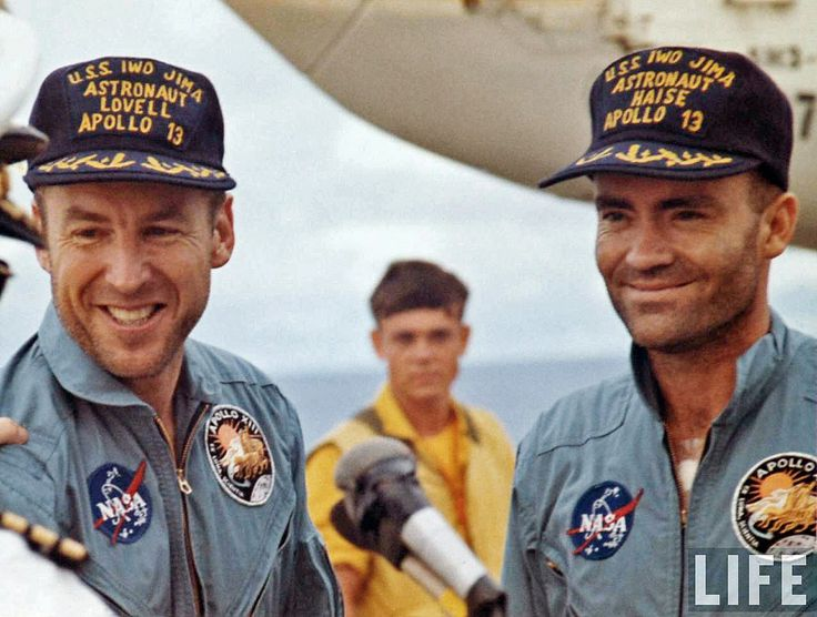 Apollo 13 splashdown, James Lovell and Fred Haise, April 17, 1970 | by Dan Beaumont Space Museum