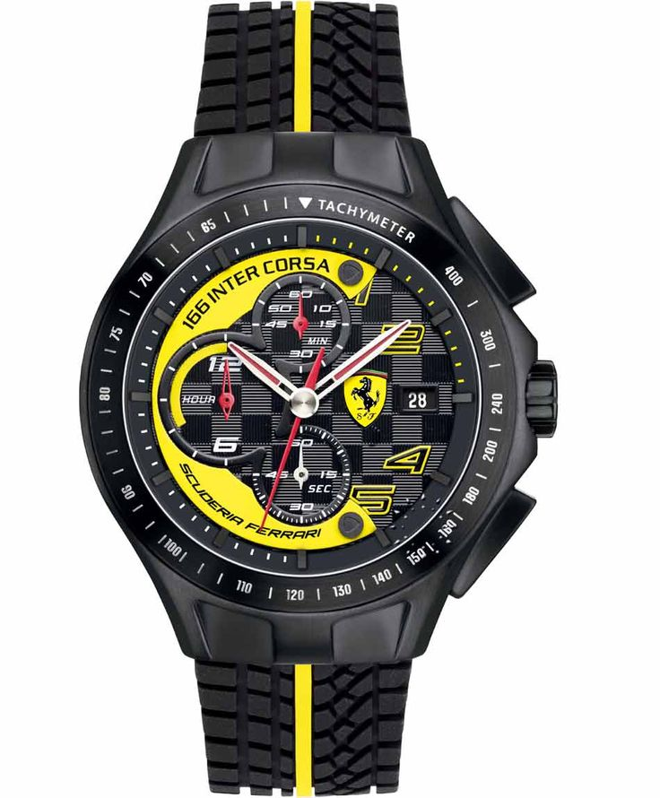 FERRARI Heritage Chronograph Black Rubber Strap Τιμή: 305€ http://www.oroloi.gr/product_info.php?products_id=35035