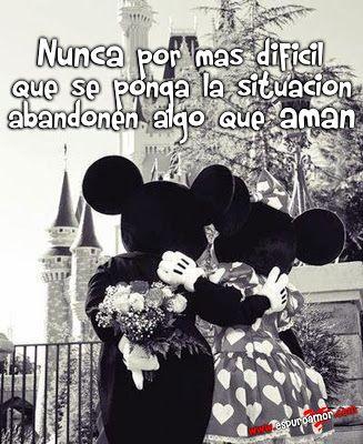 Tarjeta Hd Con Frase De Amor Verdadero Con Imagen De Mickey