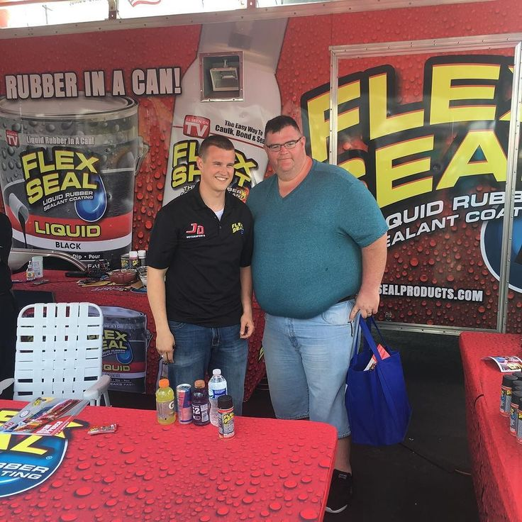 @ryanpreece_  at the our booth today! Come say hi! We are located right next to the Fanatics Trackside Superstore.  #NASCAR #flexsealracing #saturday #fun #flexshot #racecar #flexsealfans #racing #charlottemotorspeedway #handyman #weloveflexseal #getflexseal #flexsealteam #turnrighttogoleft