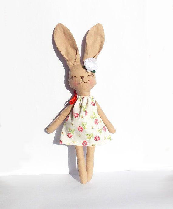 Animal kids toy Stuffed Bunny Rabbit doll Stuffed Animal Plush Bunny toy handmade Animal Baby on Etsy, $33.00