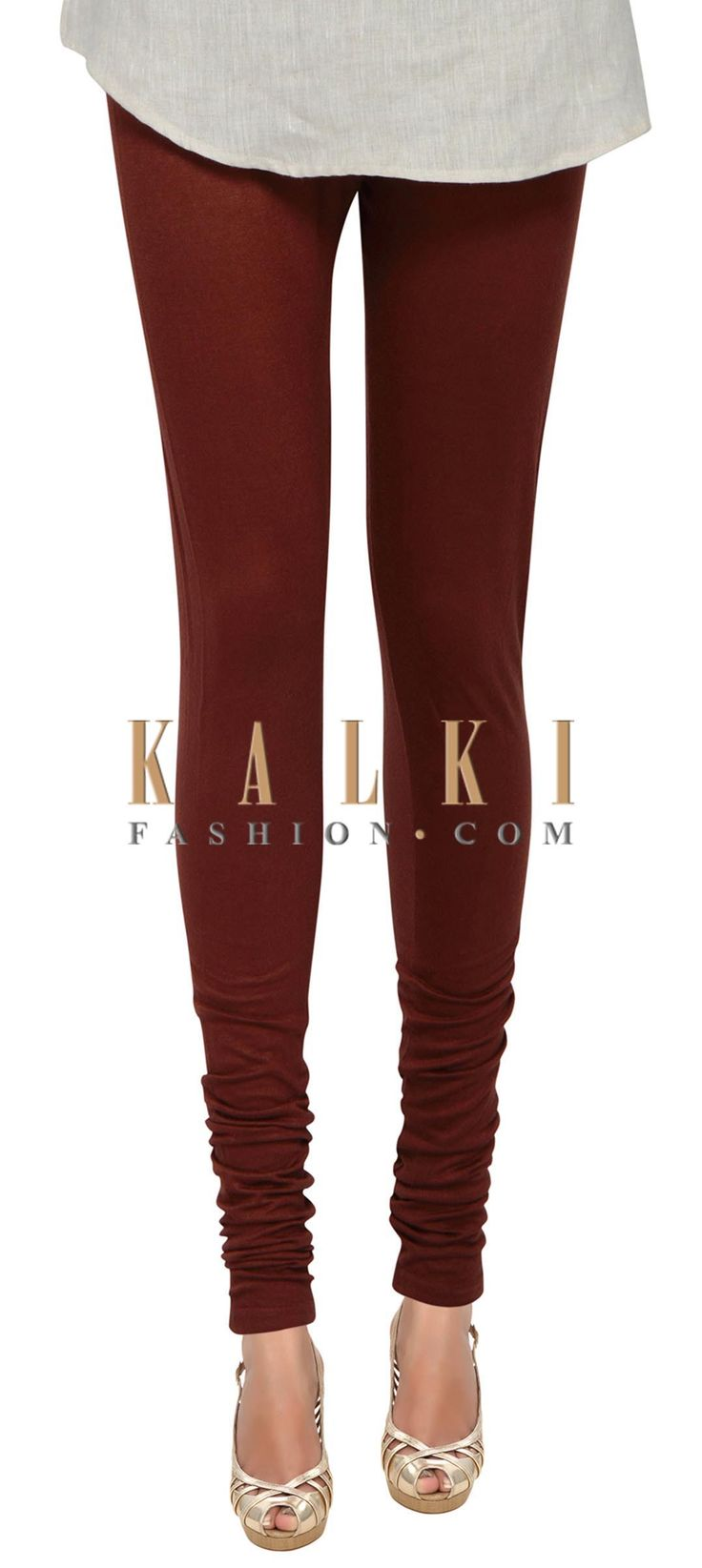 Buy Online from the link below. We ship worldwide (Free Shipping over US$100) Price- $9 Click Anywhere to Tag http://www.kalkifashion.com/rusty-maroon-cotton-hosiery-legging-only-on-kalki.html
