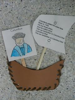 Columbus Day Craft with a little bit of information