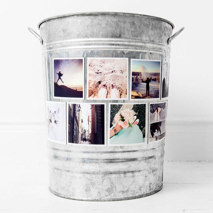 Bye bye fridge poetry. Hello photo magnets!