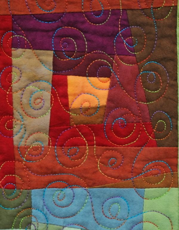 Open Spiral Quilting and other free motion quilting examples