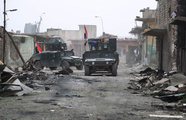 Mosul. Fuerzas iraquíes durante la ofensiva en curso para retomar la ciudad a manos del Estado Islámico. Foto Ahmad Al Rubaye/Afp