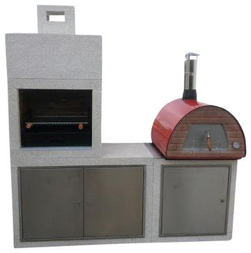 Mobile / Portable Wood Fired Outdoor Pizza Oven, only 120 lb! Great for Patio, R contemporary-outdoor-pizza-ovens