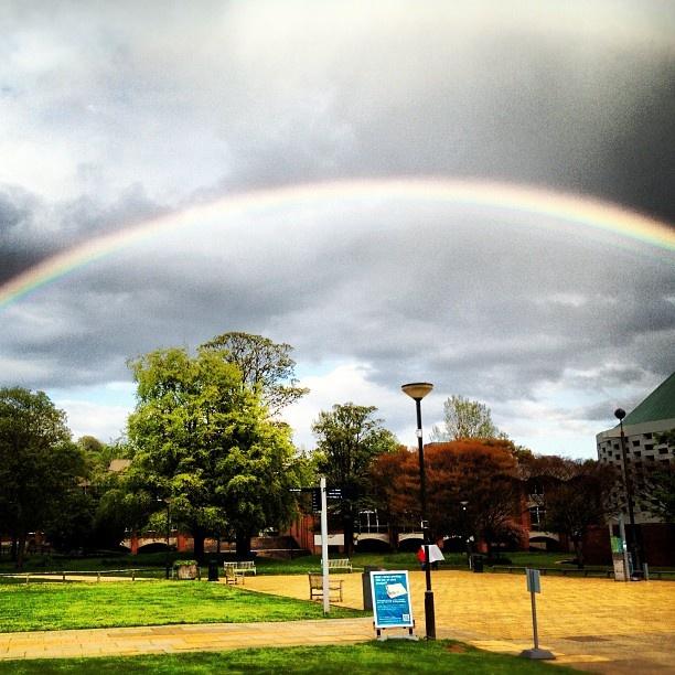 Rainbow on Sussex University Campus.